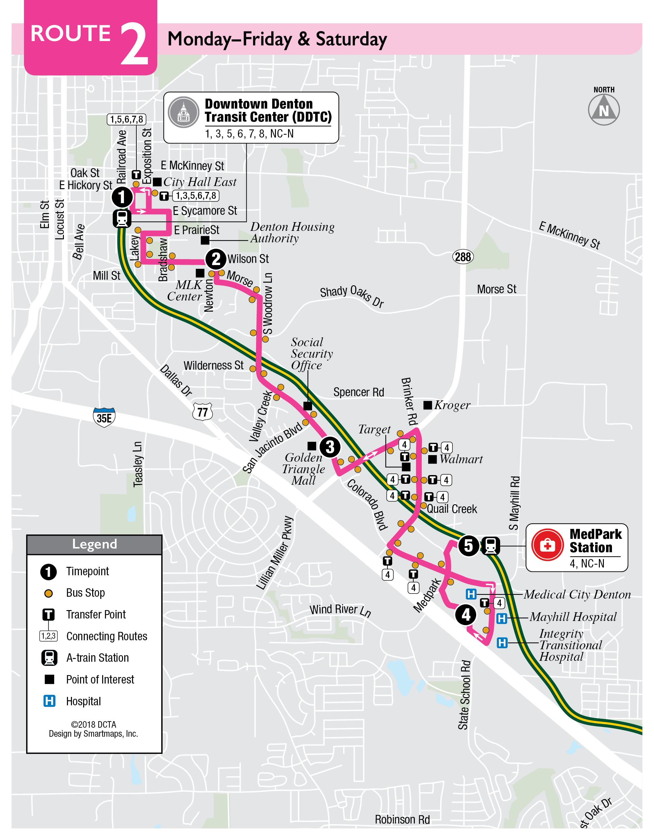 Route 2 Denton County Transportation Authority