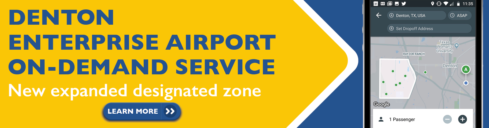 Denton Airport Zone Expansion