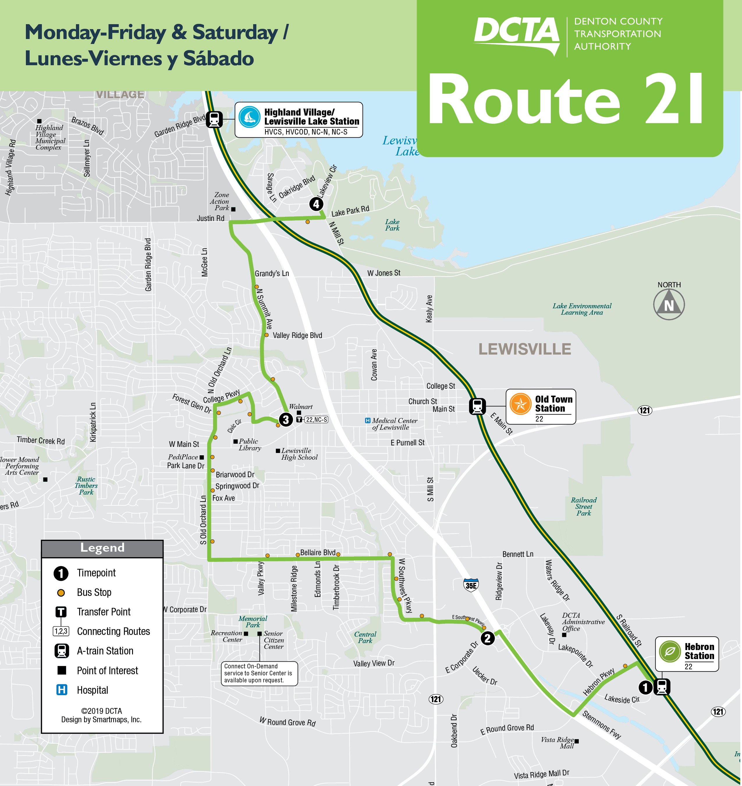 Northbound Route 21 Map