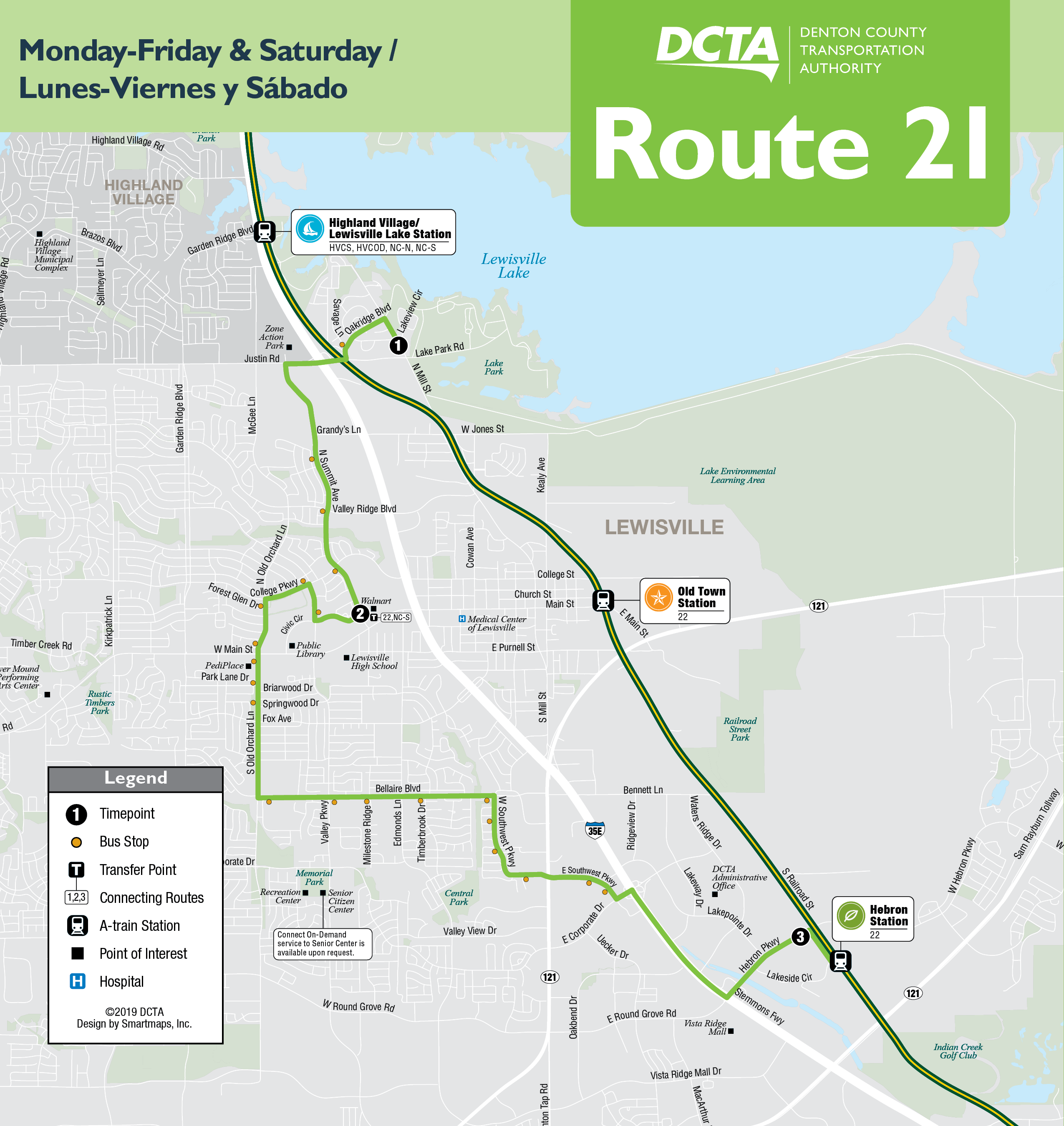 Southbound Route 21 Map