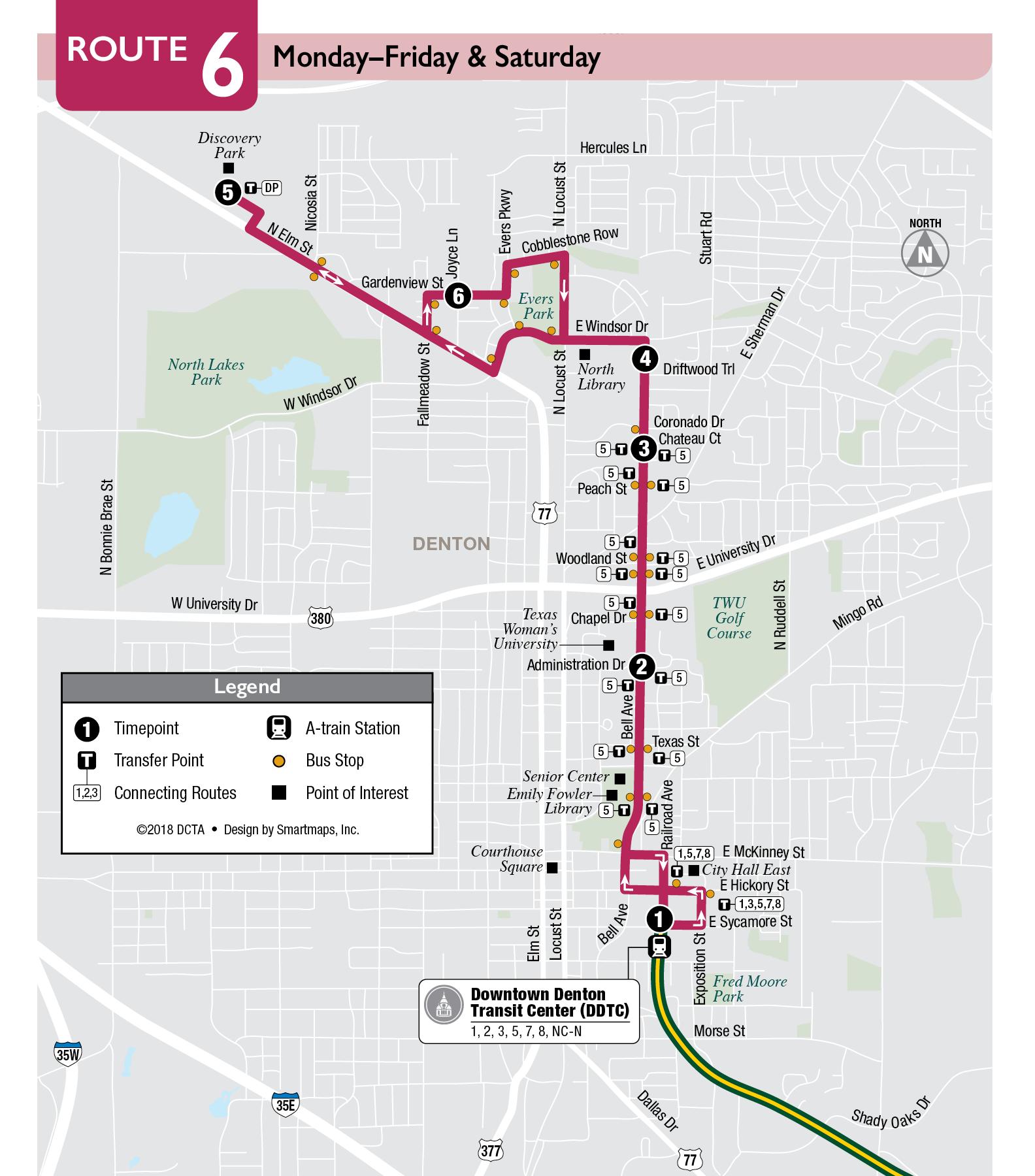 Denton Connect Route 6 | DCTA