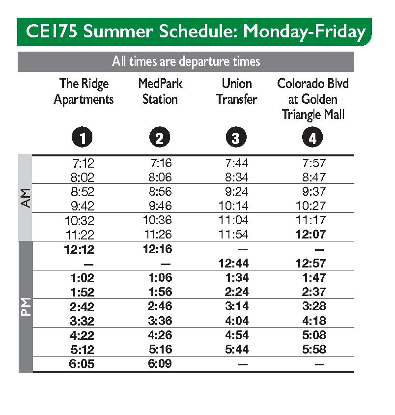 Colorado Express (Summer) | DCTA