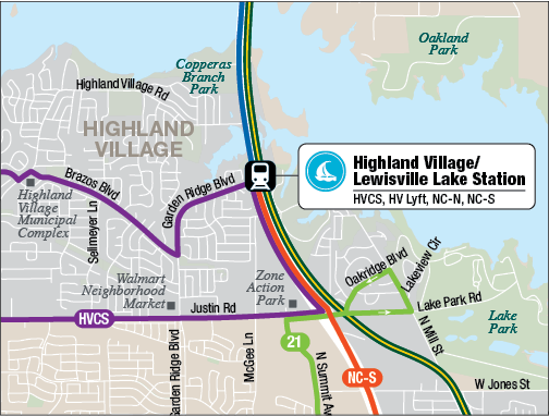 Highland Village/Lewisvill Lake Station
