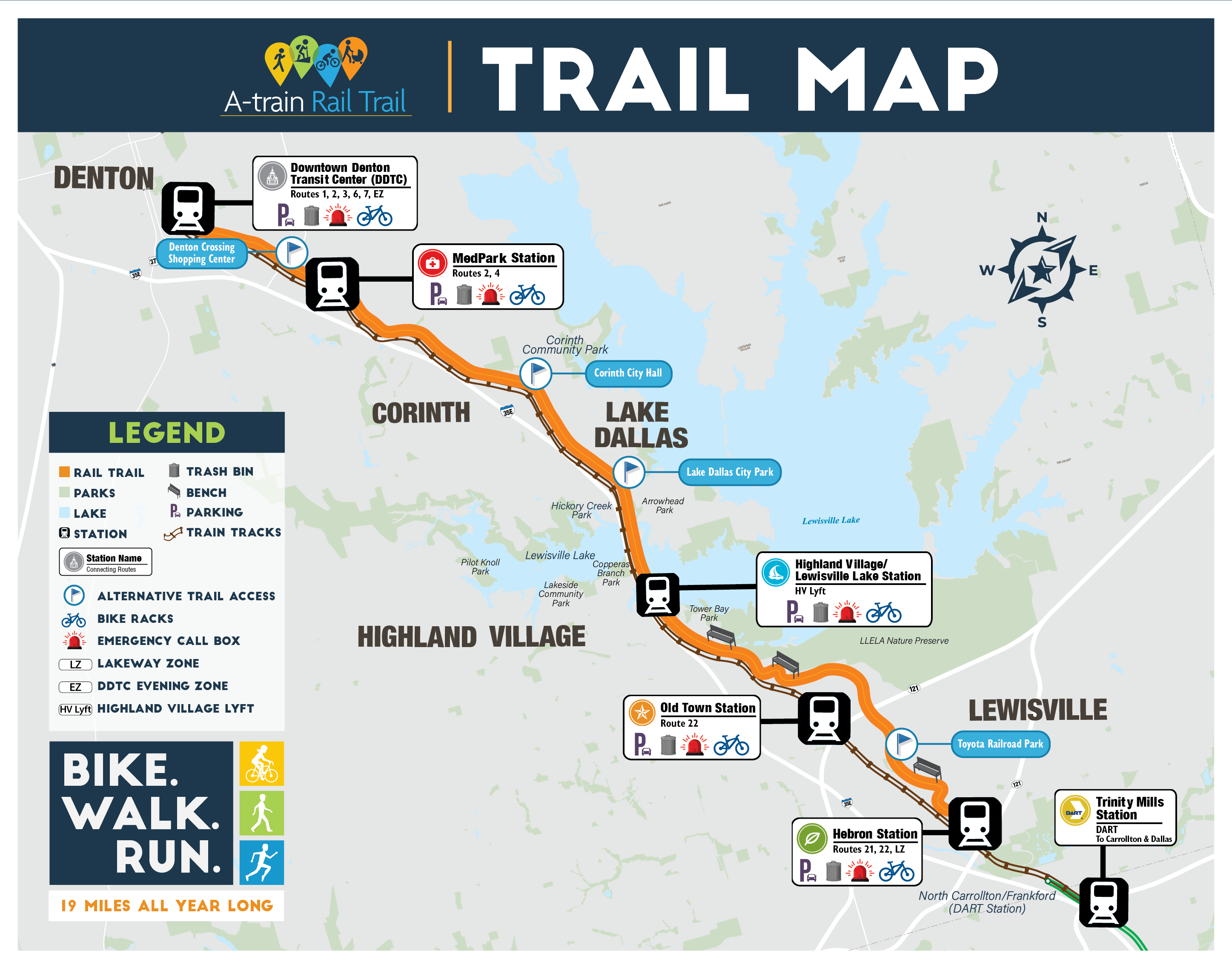 A-train Rail Trail Map