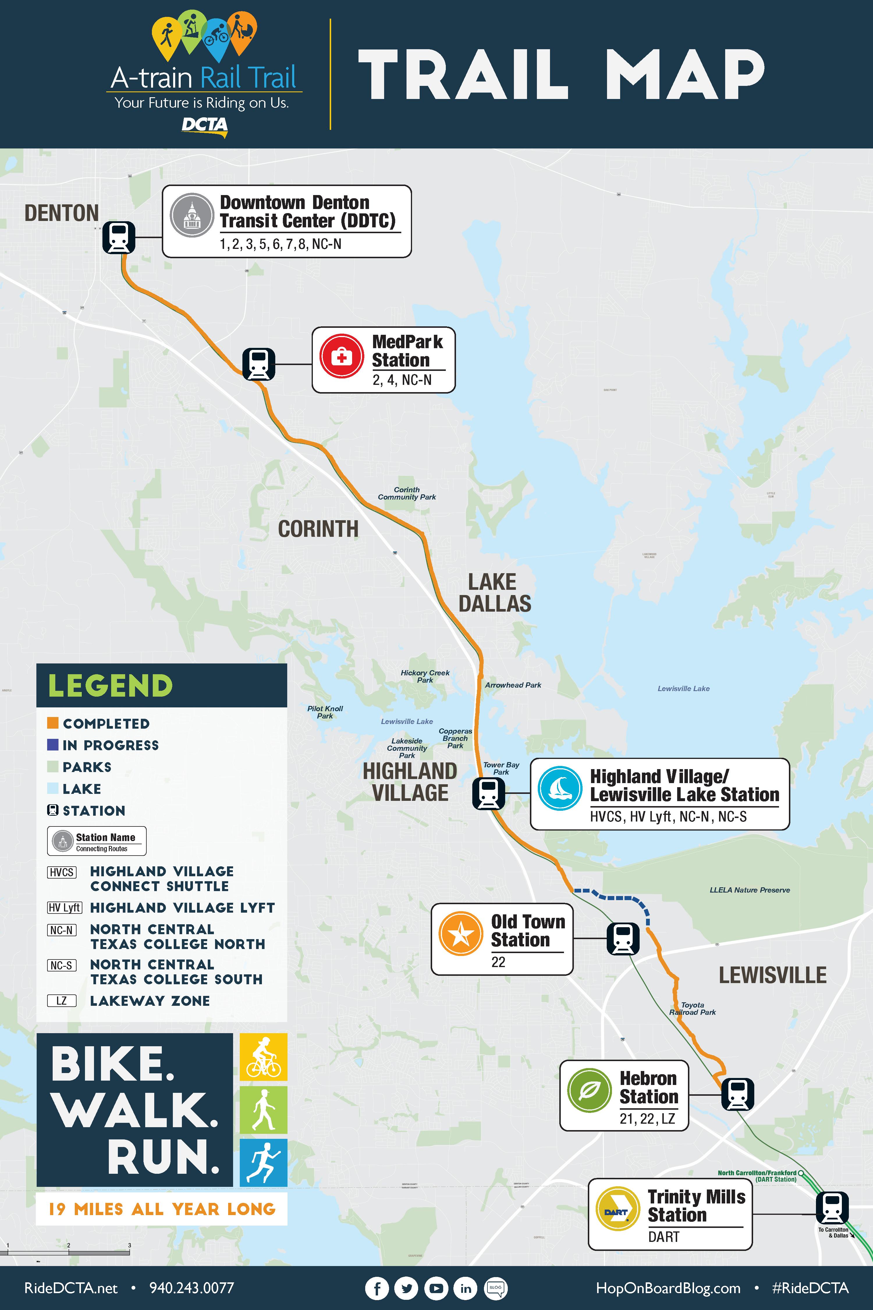A-train Rail Trail | DCTA