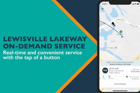 Lewisville Lakeway On Demand Service Launch Graphic