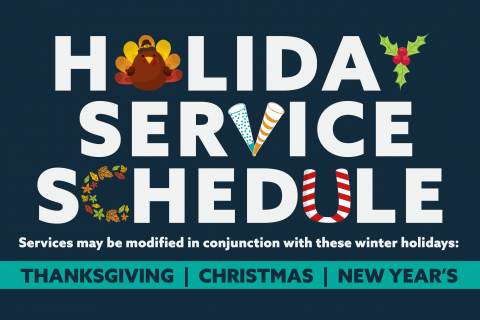 Holiday Service Schedule Promotion Graphic