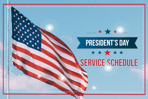 DCTA President's Day Schedule